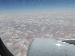 Flying Over Sahara Desert